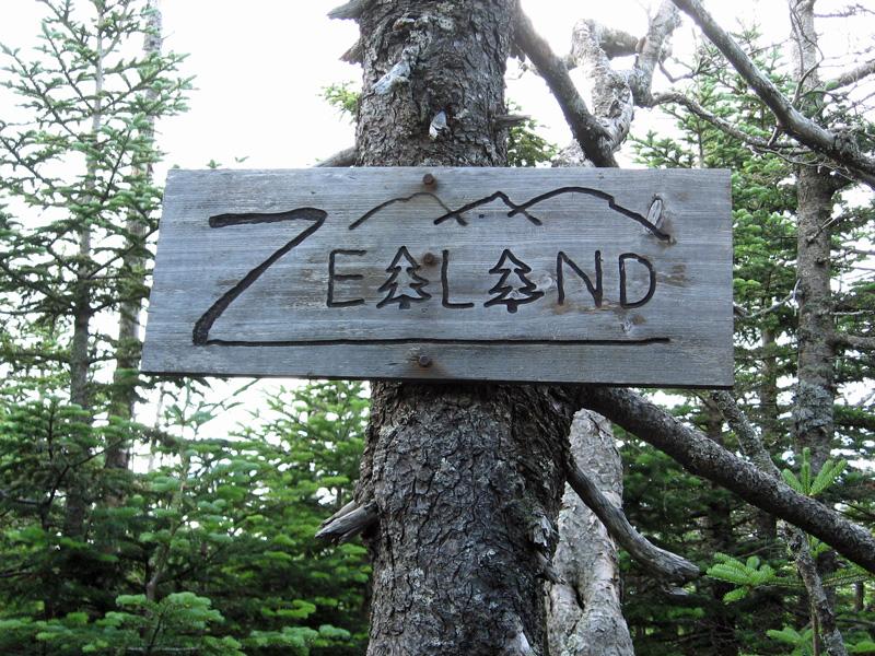 Zealand summit sign