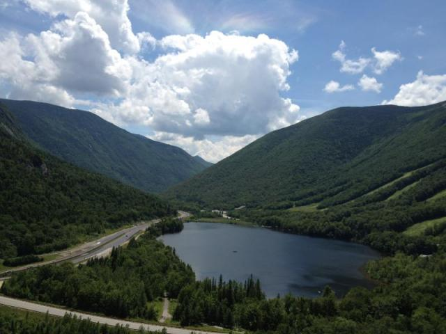 Franconia Notch from Artist's Bluff on Bald Mountain