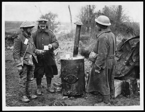 First Aid Post, Western Front, during World War I.